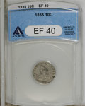 Bust Dimes: , 1835 10C XF40 ANACS. NGC Census: (8/361). PCGS Population (14/284).Mintage: 1,410,000. Numismedia Wsl. Price for NGC/PCGS ...