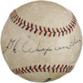 "Autographs:Baseballs, 1920's Grover Cleveland Alexander Single Signed Baseball. The obvious Golden Age styling of this ""D&M Official League Ball""..."