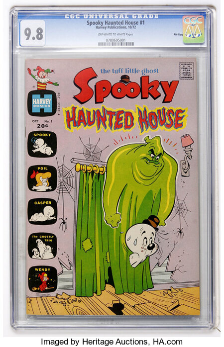 Spooky Haunted House #1 File Copy (Harvey, 1972) CGC NM/MT 9.8 Off-white to white pages....