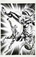 Original Comic Art:Splash Pages, Ron Frenz and Sal Buscema - Spider-Girl #79, Splash Page 17Original Art (Marvel, 2004)....