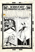 Original Comic Art:Covers, Nick Cardy - Wanted: The World's Most Dangerous Villains #7 JohnnyQuick and Hourman Cover Original Art (DC, 1972)....