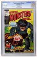 Bronze Age (1970-1979):Horror, Where Monsters Dwell #9 (Marvel, 1971) CGC NM 9.4 Off-white towhite pages....