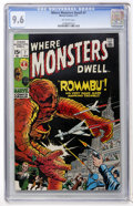 Bronze Age (1970-1979):Horror, Where Monsters Dwell #7 (Marvel, 1971) CGC NM+ 9.6 Off-whitepages....