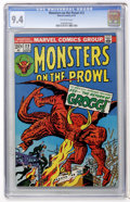 Bronze Age (1970-1979):Horror, Monsters on the Prowl #23 (Marvel, 1973) CGC NM 9.4 Off-whitepages....