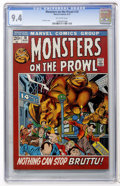 Bronze Age (1970-1979):Horror, Monsters on the Prowl #18 (Marvel, 1972) CGC NM 9.4 Off-whitepages....