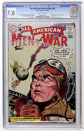 Golden Age (1938-1955):War, All-American Men of War #82 (DC, 1960) CGC FN/VF 7.0 Off-whitepages....