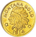 California Gold Charms, 1914 Montana Gold Dollar, Hart's Coins of the West, MS65 NGC....
