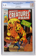 Bronze Age (1970-1979):Horror, Where Creatures Roam #7 (Marvel, 1971) CGC NM 9.4 Off-white towhite pages....