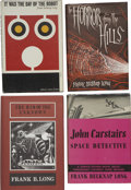 Books:First Editions, Frank Belknap Long. Four First Editions,... (Total: 4 Items)