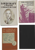 Books:First Editions, H. P. Lovecraft. Four Horror First Editions By or About H.P.L., OneSigned,... (Total: 5 Items)