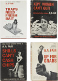 Books:First Editions, [Erle Stanley Gardner] A. A. Fair: Four 1960s First Editions fromthe Donald Lam and Bertha Cool Mystery Series,... (Total: 4 Items)