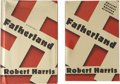 Books:First Editions, Robert Harris. Fatherland. New York: Random House,[1992].... (Total: 2 Items)