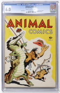 Golden Age (1938-1955):Funny Animal, Animal Comics #1 (Dell, 1942) CGC FN 6.0 Cream to off-whitepages....