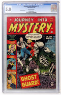 Golden Age (1938-1955):Horror, Journey Into Mystery #7 (Marvel, 1953) CGC VG/FN 5.0 Off-whitepages....