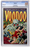 Golden Age (1938-1955):Horror, Voodoo #2 (Farrell, 1952) CGC VF+ 8.5 Off-white to white pages....