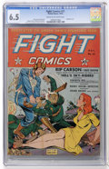Golden Age (1938-1955):War, Fight Comics #21 (Fiction House, 1942) CGC FN+ 6.5 Cream tooff-white pages....