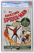 Silver Age (1956-1969):Superhero, The Amazing Spider-Man #1 (Marvel, 1963) CGC FN/VF 7.0 Whitepages....