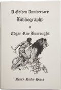 Books:Signed Editions, Henry Hardy Heins. A Golden Anniversary Bibliography of EdgarRice Burroughs. West Kingston, Rhode Island: Donal...