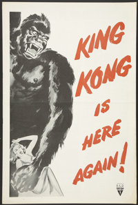 """King Kong/I Walked With A Zombie Combo (RKO, R-1956). Pressbook (Multiple Pages) (12"""" X 18""""). Horror"""