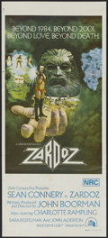 "Movie Posters:Fantasy, Zardoz (20th Century Fox, 1974). Australian Daybill (13"" X 30"").Fantasy...."