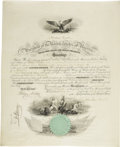 Autographs:U.S. Presidents, Abraham Lincoln Signed Naval Appointment...