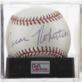 Autographs:Baseballs, Oscar Robertson Single Signed Baseball, PSA Mint+ 9.5. With muchdelight we offer this clean OML orb with the signature of H...
