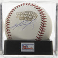 Autographs:Baseballs, David Ortiz Single Signed World Series Baseball, PSA Mint 9. Herewe present a gorgeous side panel signature of the Red Sox ...