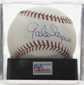 Autographs:Baseballs, Gale Sayers Single Signed Baseball, PSA Mint+ 9.5. Exceptionalcrossover collectible featuring one of football's top rushers...