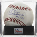 "Autographs:Baseballs, Bobby Doerr ""HOF 86"" Single Signed Baseball, PSA Mint+ 9.5. Thelong-time Red Sox great Bobby Doerr here makes mention of hi..."