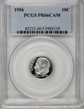 Proof Roosevelt Dimes: , 1956 10C PR66 Cameo PCGS. . PCGS Population (59/290). NGC Census:(17/246). Numismedia Wsl. Price for NGC/PCGS coin in PR6...