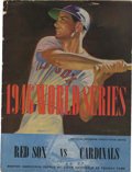 Autographs:Others, 1946 World Series Program Signed by the St. Louis Cardinals.Stunning memento from the St. Louis Cardinals' 1946 World Ser...