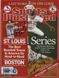 "Autographs:Others, Mike Matheny and Albert Pujols Dual-Signed ""Sports Illustrated"" Magazine. Since the two of them came to the St. Louis Cardi..."