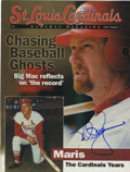 "Autographs:Others, Mark McGwire Signed ""St. Louis Cardinals Gameday Magazine"". Theincredible slugger Mark McGwire has positioned his desirabl..."