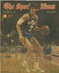 """Autographs:Photos, Pete Maravich Single Signed Magazine Cover. The cover of the Oct.29, 1977 cover of """"The Sporting News"""" featured possibly t..."""