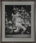 """Autographs:Photos, Mickey Mantle Signed Oversized Photograph. The Commerce Comet addedhis Hall of Fame autograph to the 16x20"""" black and whit..."""