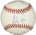 Autographs:Baseballs, 300 Wins Multi-Signed Baseball. One of the most exclusive clubs in baseball is represented with this excellent multi-signed...