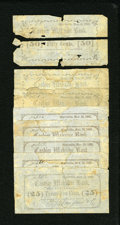 Obsoletes By State:Massachusetts, Montville, (CT)- W.W. Langdon & Co. 25¢ (5); 50¢ (3) Nov. 10, 1862. ... (Total: 8 notes)