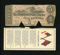 Confederate Notes:1862 Issues, T53 $5 1862.. ... (Total: 2 items)