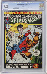 The Amazing Spider-Man #111 (Marvel, 1972) CGC NM- 9.2 White pages