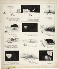 George Herriman - Krazy Kat Sunday Comic Strip Original Art, dated 8-11-18 (King Features Syndicate, 1918)