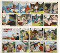 Original Comic Art:Miscellaneous, Paul Norris - Jungle Jim Sunday Comic Strip Color Proof, Group of 2(King Features Syndicate, 1950).... (Total: 3 Items)