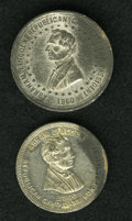U.S. Presidents & Statesmen, Pair of Abraham Lincoln 1860 Political Medals.... (Total: 2 medals)