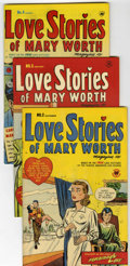 Golden Age (1938-1955):Romance, Love Stories of Mary Worth #2-4 File Copies Group (Harvey, 1949-50)Condition: Average VF.... (Total: 3 Comic Books)