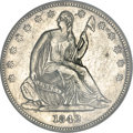 Seated Half Dollars, 1842-O 50C Small Date, Small Letters--Scratched, Cleaned--ANACS. XF45 Details....