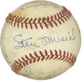 Autographs:Baseballs, 1950 St. Louis Cardinals Team Signed Baseball. Here the 1950incarnation of the St. Louis Cardinals is represented in the f...
