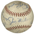Autographs:Baseballs, Circa 1934 St. Louis Cardinals Team Signed Baseball. A total of 10signatures from the circa 1934 St. Louis Cardinals team ...
