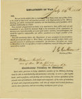 Autographs:Statesmen, John C. Calhoun Document Signed...