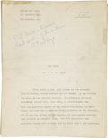 Books:Signed Editions, A.E. van Vogt. Original Manuscript of The Witch, Inscribedand Signed. ...