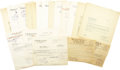 Autographs:Authors, Shasta Publishers. Vast 1953-1954 Archive of Publishing Correspondence. A fascinating collection of letters, documents, tele...