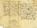 Autographs:Statesmen, Salem Witch Trials: George Corwin and Stephen Sewall....